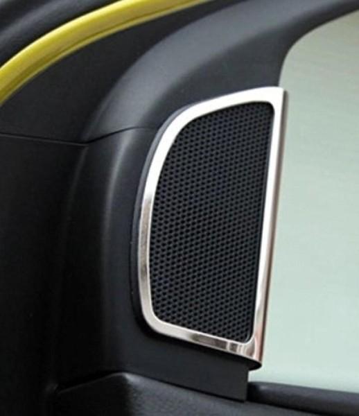 Lautsprecherabdeckung Rahmen Passend Für Ford Focus MK3 Edelstahl