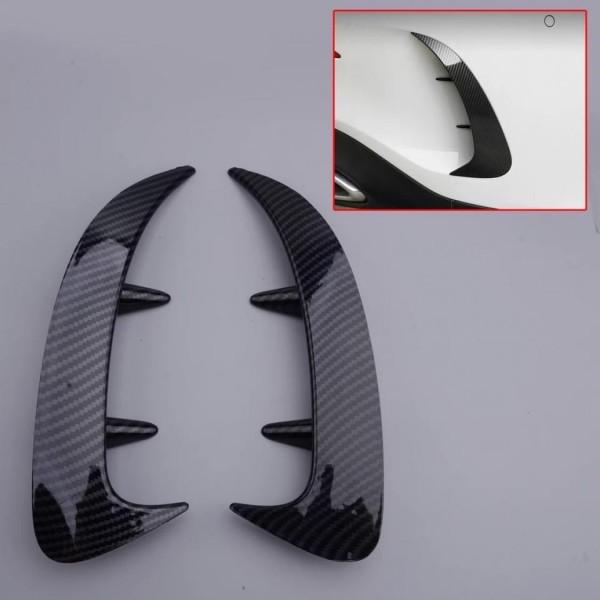 Carbon Optik Stoßstange Hinten Rahmen Blende Abdeckung Passend Für Mercedes Benz A Klasse W177