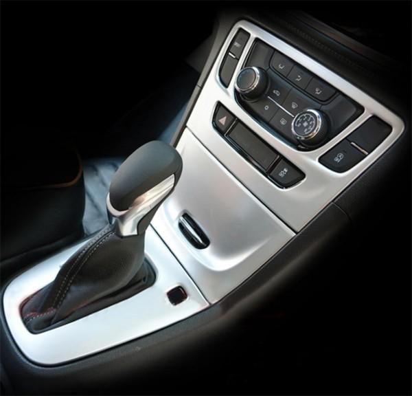 Mittelkonsole Schalttafel Klima Rahmen Blende Passend Für Opel Mokka ABS Kunststoff Chrom Matt