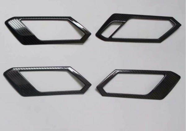 Handgriffe Rahmen Blende Abdeckung Edelstahl Carbon Optik Passend Für VW T-Roc TDI TSI