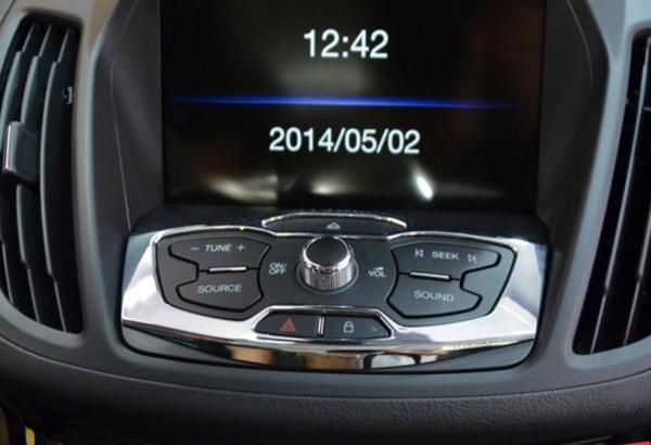 Radio Rahmen Hinten Blende Passend Für Ford Kuga Chrom Optik