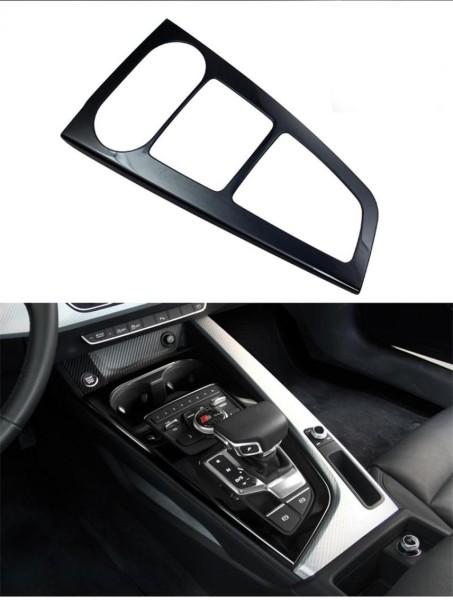 Mittelkonsole Schalttafel Automatikgetriebe Blende Rahmen Passend Für Audi A4 B9 Edelstahl in Schwarz