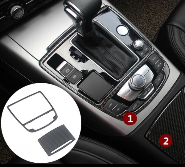 Schalttafel Aschenbecher Flex Carbon Abdeckung Passend Für Audi A6 S6 RS6 A7 S7 RS7