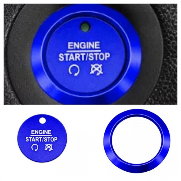 Start Stop Ring Abdeckung Alu Blau Passend Für Ford Fiesta Focus Ecosport Mondeo Escape Explorer