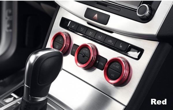 Klima Heizungsregler Schalter Alu Ringe Passend Für VW Tiguan 2 Passat B8