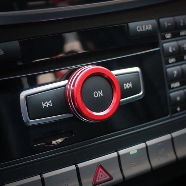 Radio Lautstärke Regler Ringe Rahmen Passend Für Mercedes Benz AMG A Klasse B Klasse GLA CLA Rot