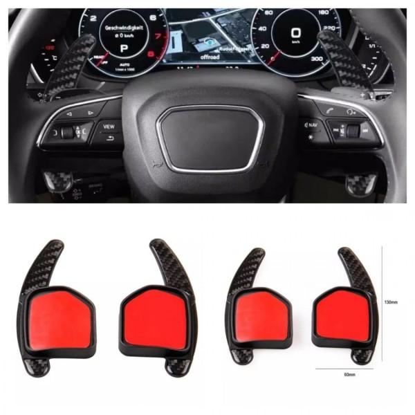 Carbon Optik Schaltwippen Verlängerung Shift Paddles Passend Für Audi A1 A3 A4 A5 A6 A7 Q3 Q5