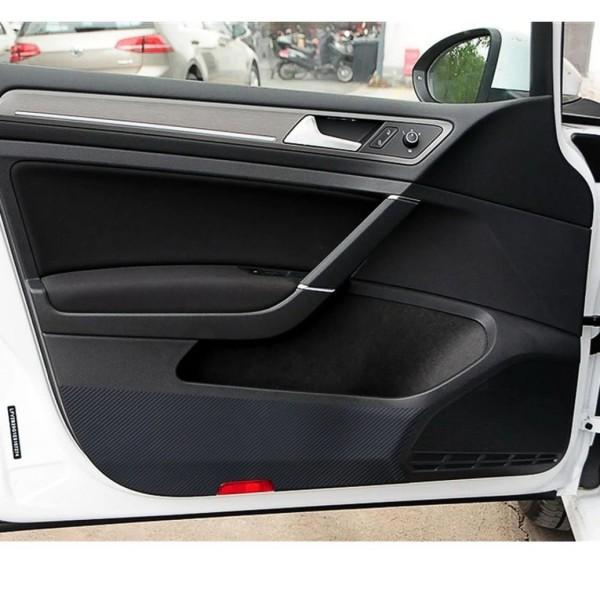 Türpappen 3D Carbon Folie Schwarz Passend Für VW Golf 7