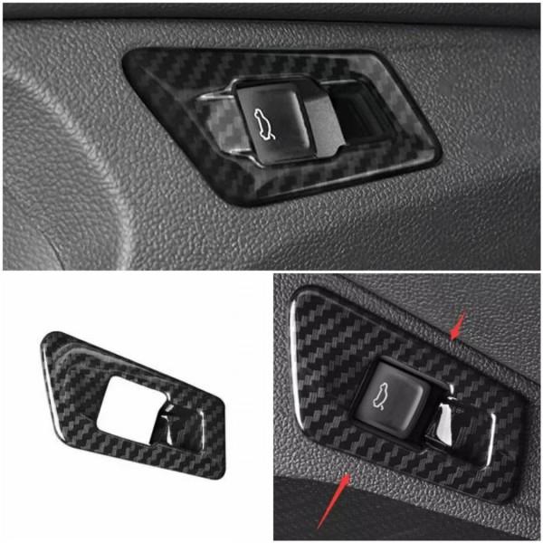 Kofferraum Heckklappe Druckknopf Veredelung Carbon Optik Matt Passend Für Audi Q5 SQ5 FY Ab BJ.2108