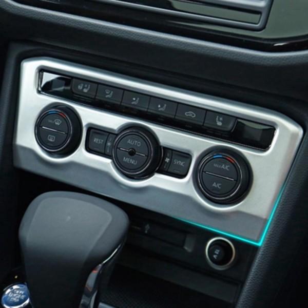 Klima Regler Heizung Rahmen Blende Abdeckung Edelstahl Passend Für VW T-Roc TDI TSI