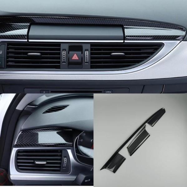 Edelstahl Carbon Optik Armaturenbrett Navigation Leiste Passend Für Audi A6 C7 A7