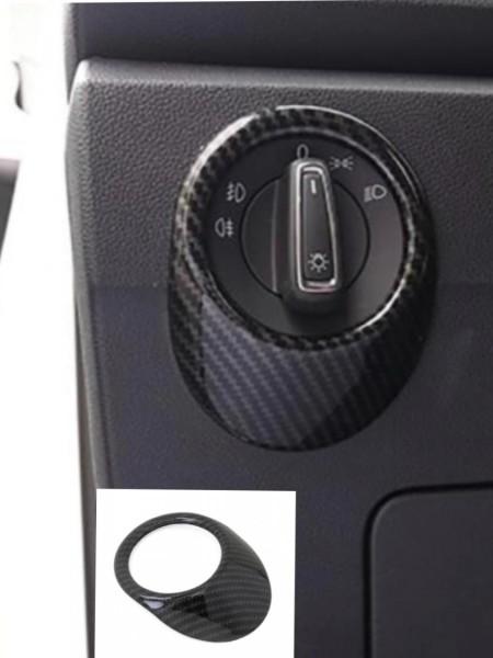 Lichtschalter Blende Abdeckung Rahmen Carbon Optik Passend Für VW T-Roc TDI TSI
