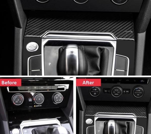 Mittelkonsole Aschenbecher Blende in Carbon Flex Passend Für VW Passat B8