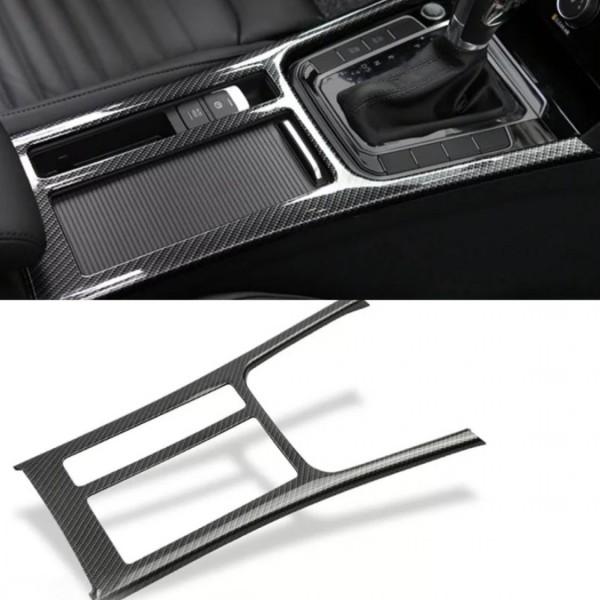 Carbon Optik Mittelkonsole Schalttafel Rahmen Blende Abdeckung Passend Für VW Passat B8