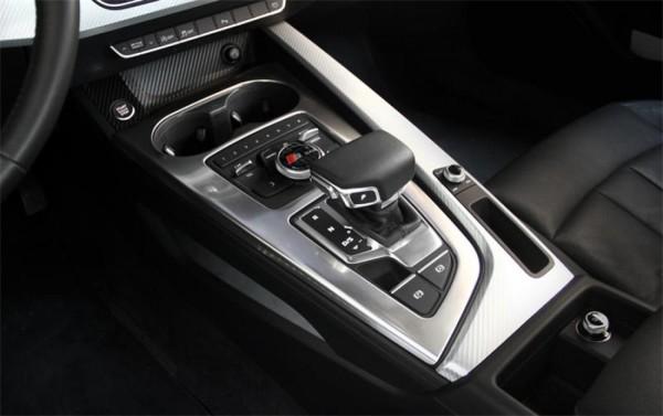 Mittelkonsole Schalttafel Automatikgetriebe Blende Rahmen Passend Für Audi A4 B9 in Edelstahl Silber