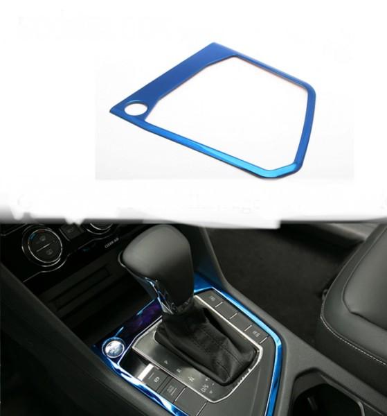 Mittelkonsole Schaltknauf Rahmen Blende Abdeckung Passend Für VW Tiguan 2 AD1 Blau