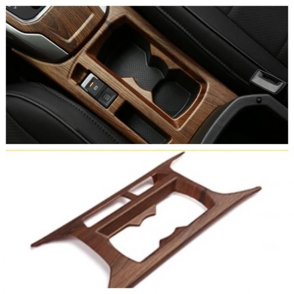 Mittelkonsole Becherhalter Blende Abdekung Rahmen Holz Optik Passend Für VW T-Roc TDI TSI