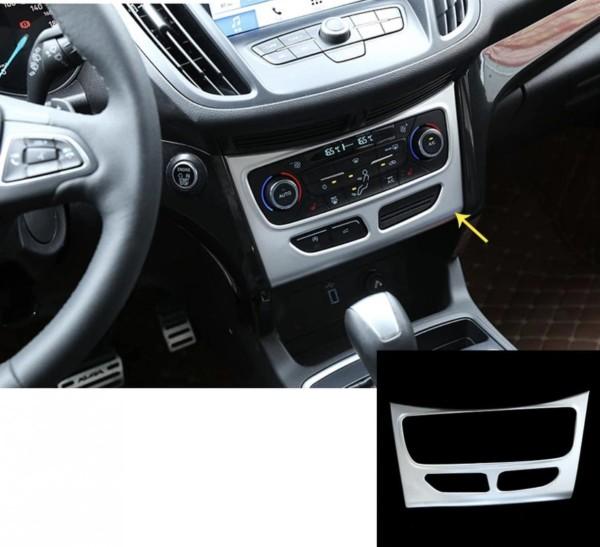 Klimaanlage Abdeckung Blende Rahmen Chrome Matt Passend Für Ford Kuga CDTI ST