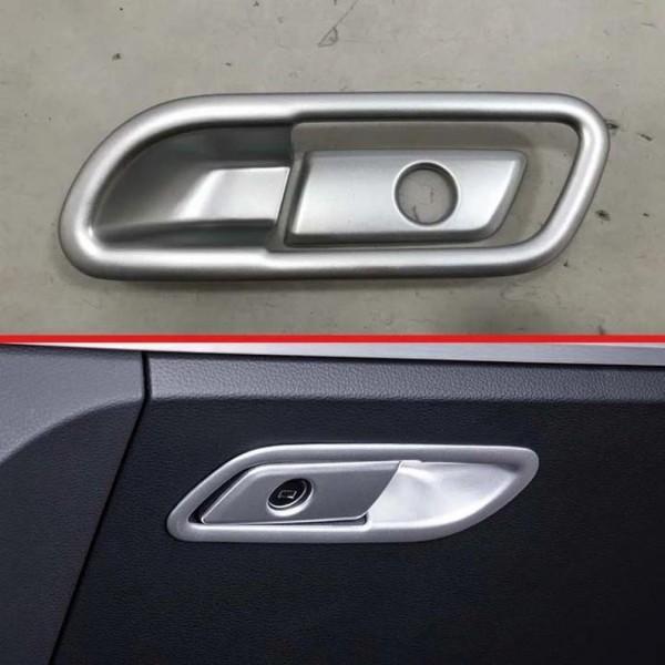 Handschuhfach Schloss Veredelung Abdeckung Rahmen Chrome Silber Matt Passend Für Audi Q5 SQ5 FY Ab BJ.2108