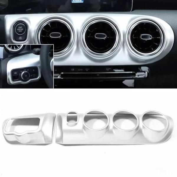 Chrom Matt Optik Mittelkonsole Armaturenbrett Passend Für Mercedes Benz A Klasse W177 V177 CLA W118 C118 X118