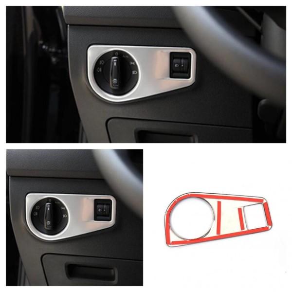 Lichtschalter Blende in Edelstahl Matt Passend Für VW Tiguan 2 AD1 TDI TSI