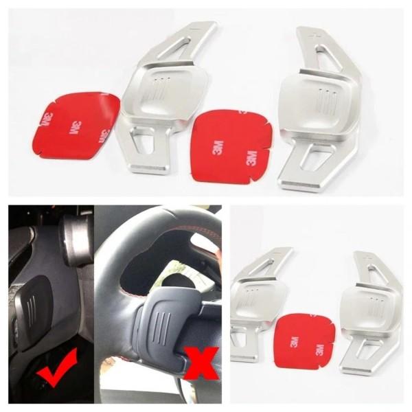 Schaltwippen DSG Paddels Passend Für VW Golf 7 Tiguan AD1 TSI TDI in Silber (Nicht für GTI GTD R)