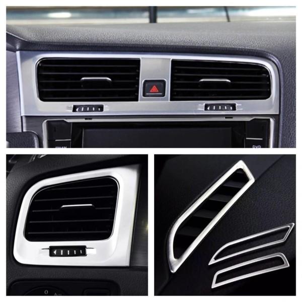 Luftdüsen Lüftungsrahmen Abdeckung Blende Passend Für VW Golf 7 GTI GTD TDI TSI