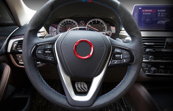 Lenkrad Emblem Rahmen 46 mm Innendurchmesser Rot Passend Für BMW