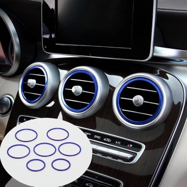 Luftdüse Abdeckung Lüftungsrahmen Passend für Mercedes Benz C Klasse W205 AMG Blau