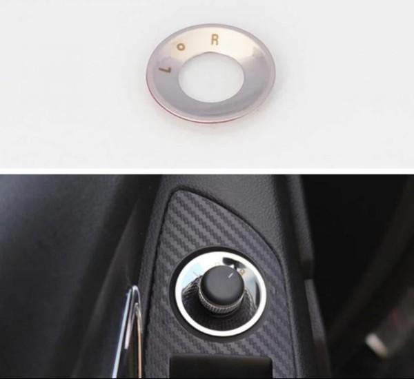 Edelstahl Rahmen Spiegelverstellung Knopf Abdeckung Veredelung Passend Für Opel Astra Mokka Insignia