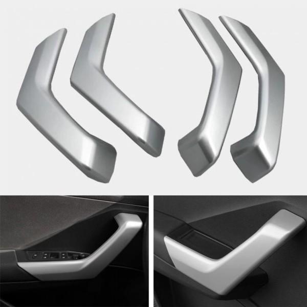Handgriffe Blende Abdekung Rahmen Silber Matt Passend Für VW T-Roc TDI TSI
