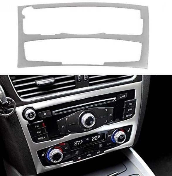 Radioblende Armaturenbrett  Veredelung Passend Für Audi A4 B8 Q5 SQ5 8R Edelstahl Optik