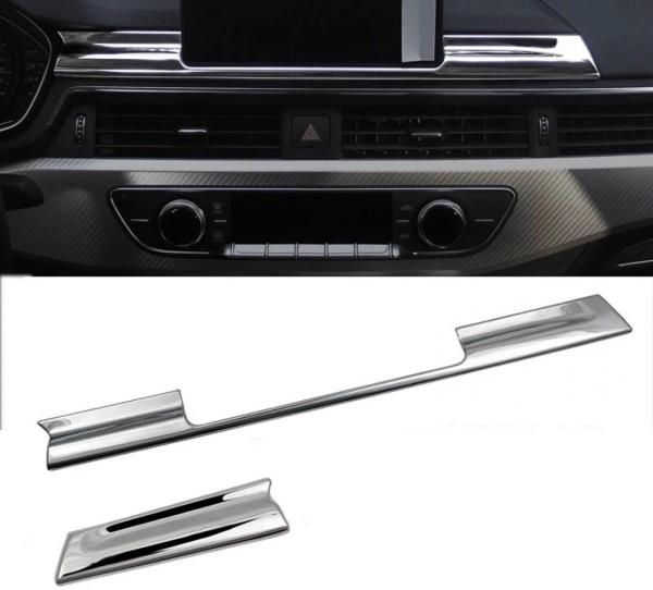 Armaturenbrett Navigation Leiste Passend Für Audi A4 B9 in Edelstahl