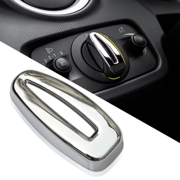 Lichtschalter Blende Abdeckung Rahmen ABS Chrom Passend Für Ford Fiesta Ecosport