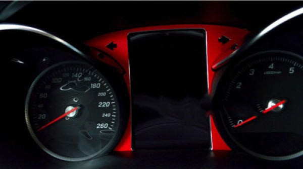 Tacho Rahmen Blende Passend Für Mercedes Benz C Class GLC AMG Rot