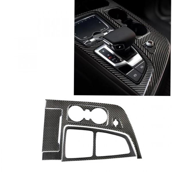 Mittelkonsole Schalttafel Becherhalter Blende Rahmen Carbon Flex Passend Für Audi Q7 4M
