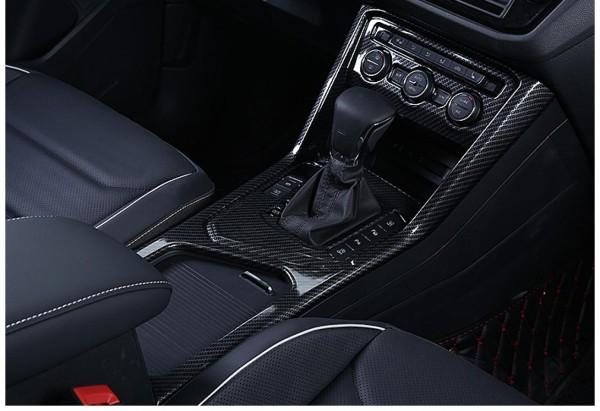 Mittelkonsole Armaturenbrett Blende Verkleidung Rahmen Carbon Flex Passend Für VW Tiguan 2 AD1
