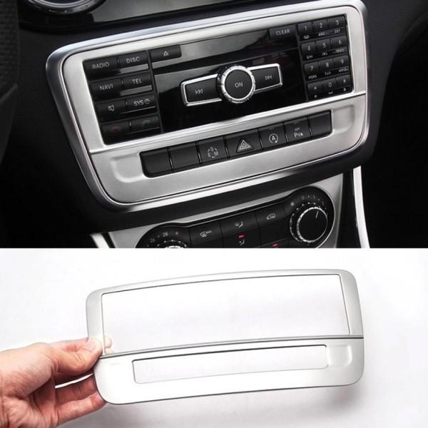 Radio Radio Rahmen Blende Veredelung Passend Für Mercedes Benz A Klasse GLA CLA Silber