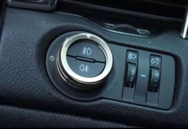 Lichtschalter Alu Ringe Passend Für Opel Mokka Silber