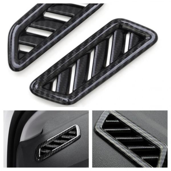 Lüftung Rahmen Blende Abdeckung ABS Carbon Optik Passend Für VW T-Roc TDI TSI