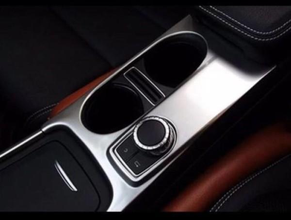 Mittelkonsole Becherhalter Rahmen Edelstahl Blende Passend Für Mercedes Benz A GLA CLA